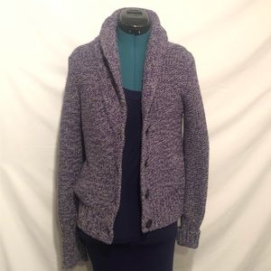 American Eagle Outfitters Purple Cardigan Womens L